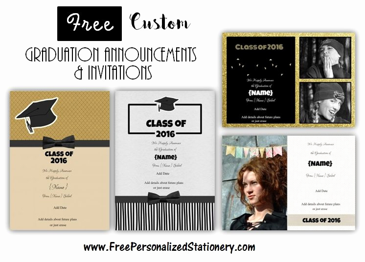 Free Graduation Invitation Maker Inspirational Graduation Announcements