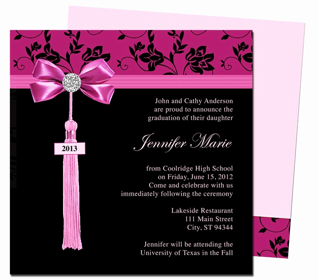 Free Graduation Invitation Templates Best Of Graduation Announcements Templates Feminine Style Design