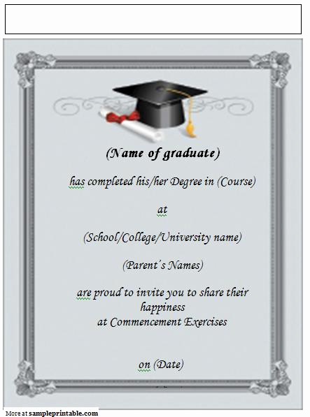 Free Graduation Invitation Templates Download Luxury Graduation Party Template Free Weeklysoftware