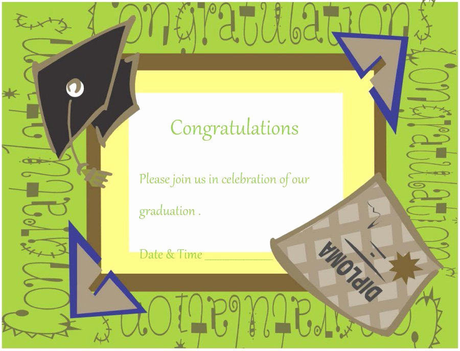 Free Graduation Invitation Templates Download Unique 40 Free Graduation Invitation Templates Template Lab