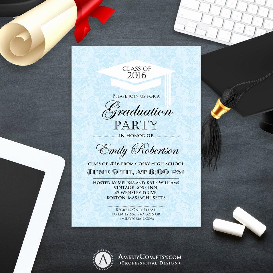 Free Graduation Invitation Templates Elegant Printable Graduation Invitation Template College Graduation