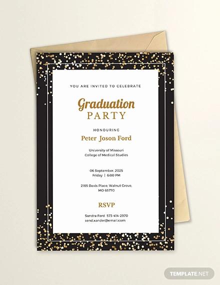 Free Graduation Invitation Templates Lovely 35 Graduation Invitation Templates Psd Ai Word