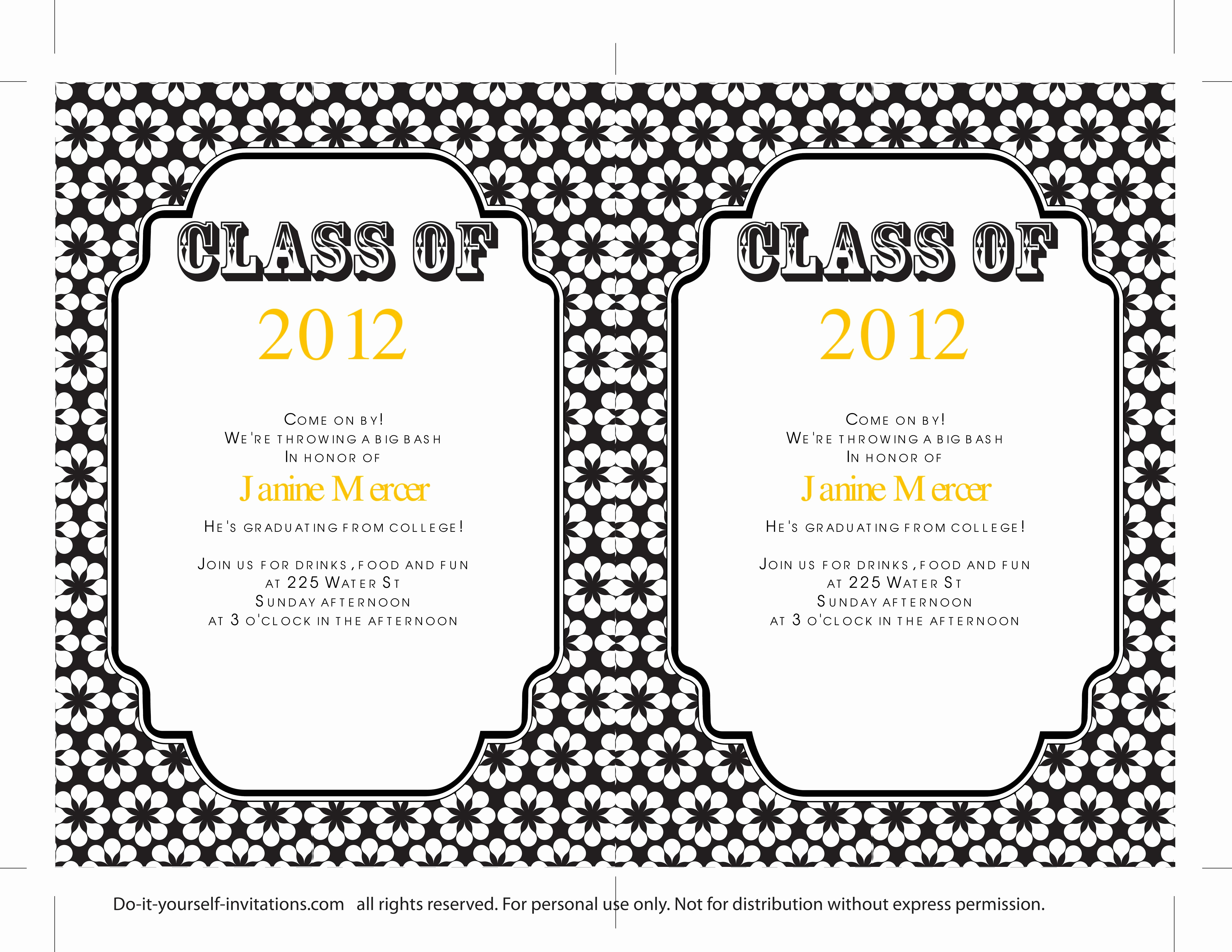 Free Graduation Invitation Templates Lovely 40 Free Graduation Invitation Templates Template Lab