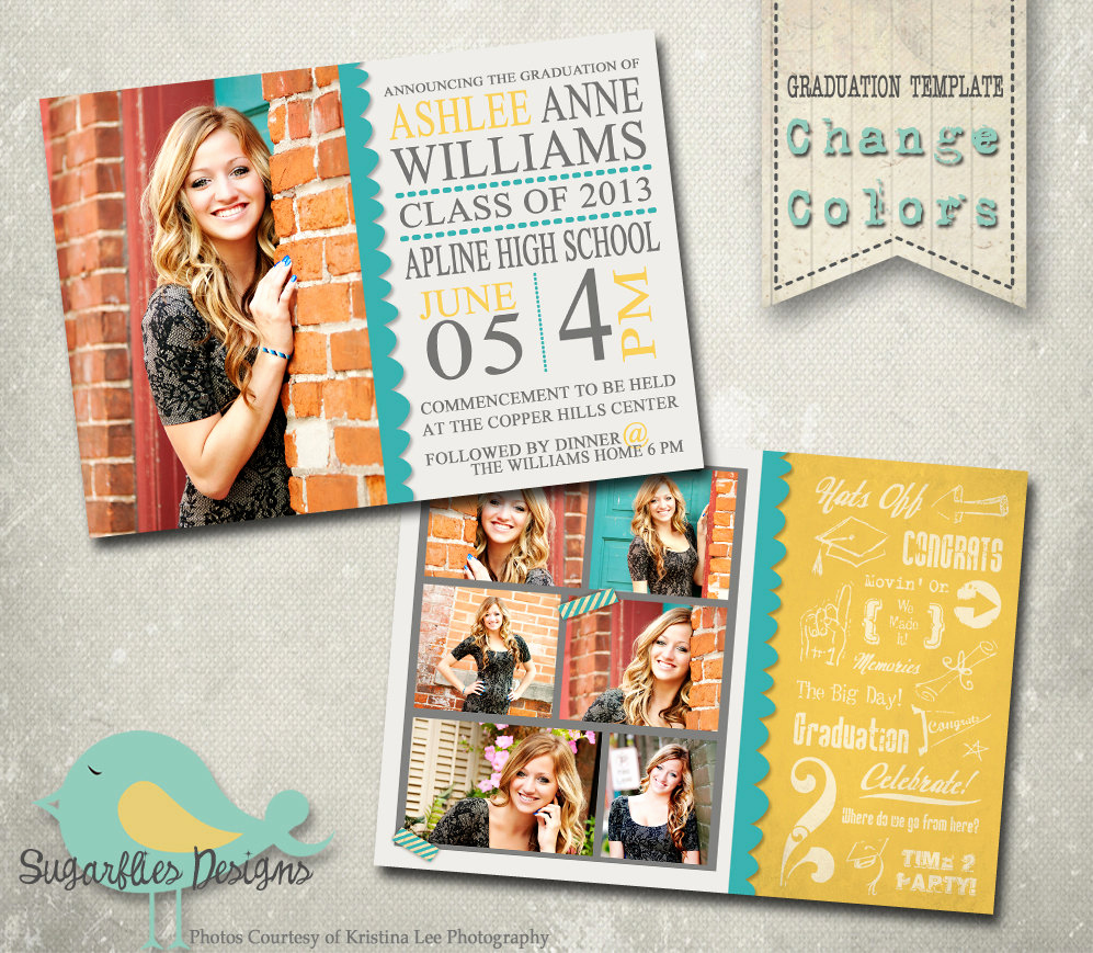 graduation announcement photoshop
