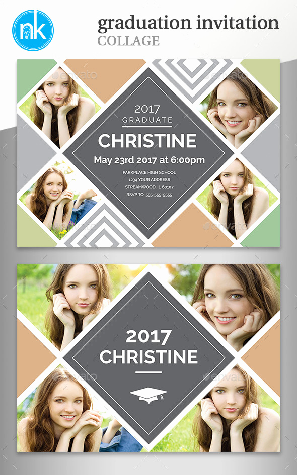 Free Graduation Invitation Templates Photoshop Fresh Free Collage Graduation Invitation Templates for Shop