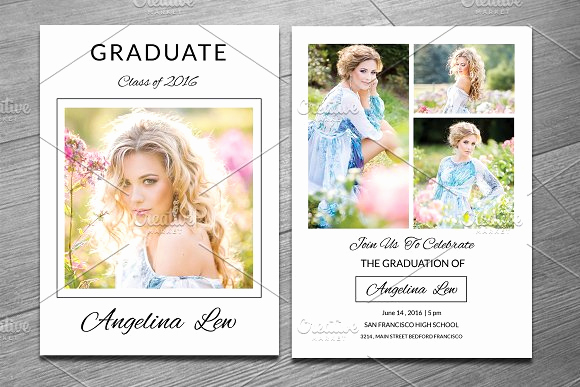 Free Graduation Invitation Templates Photoshop Fresh Senior Graduation Announcement V282 Flyer Templates