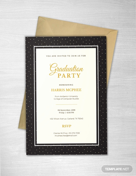 Free Graduation Invitation Templates Photoshop Luxury 53 Invitation Card Templates Psd Ai Eps