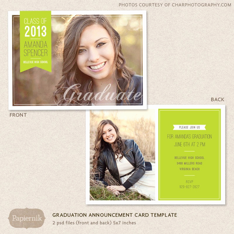 Free Graduation Invitation Templates Photoshop Luxury Senior Graduation Announcement Template for Graphers Psd