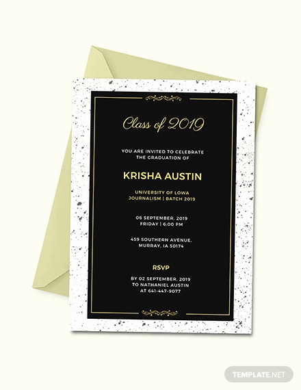 Free Graduation Invitation Templates Photoshop Unique 22 Graduation Invitation Templates Word Psd Vector