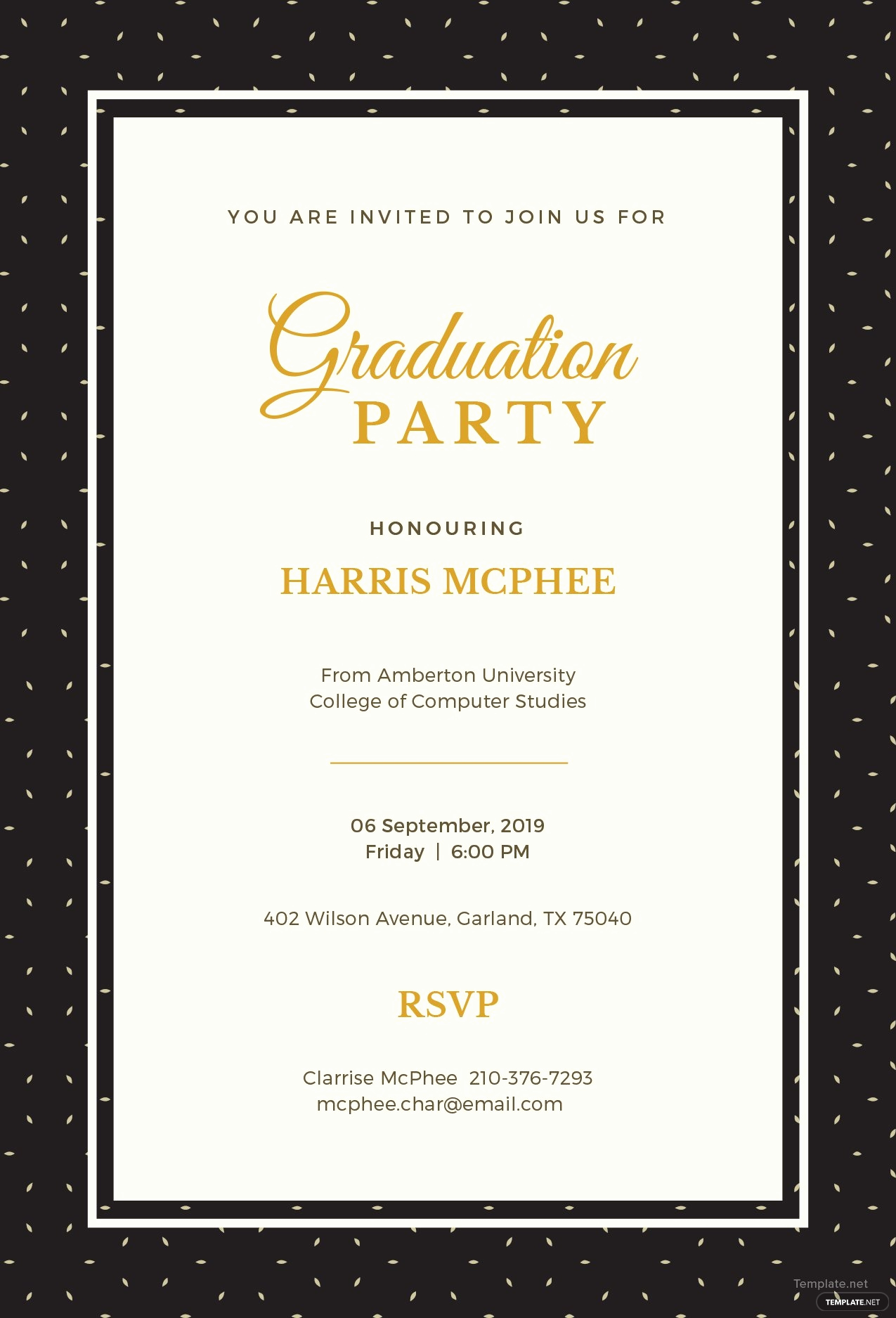 Free Graduation Invitation Templates Printable Lovely Free Graduation Invitation Template In Adobe Shop