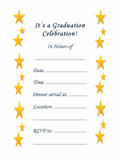 Free Graduation Invitation Templates Printable Luxury 10 Fabulous Printable Graduation Invitations