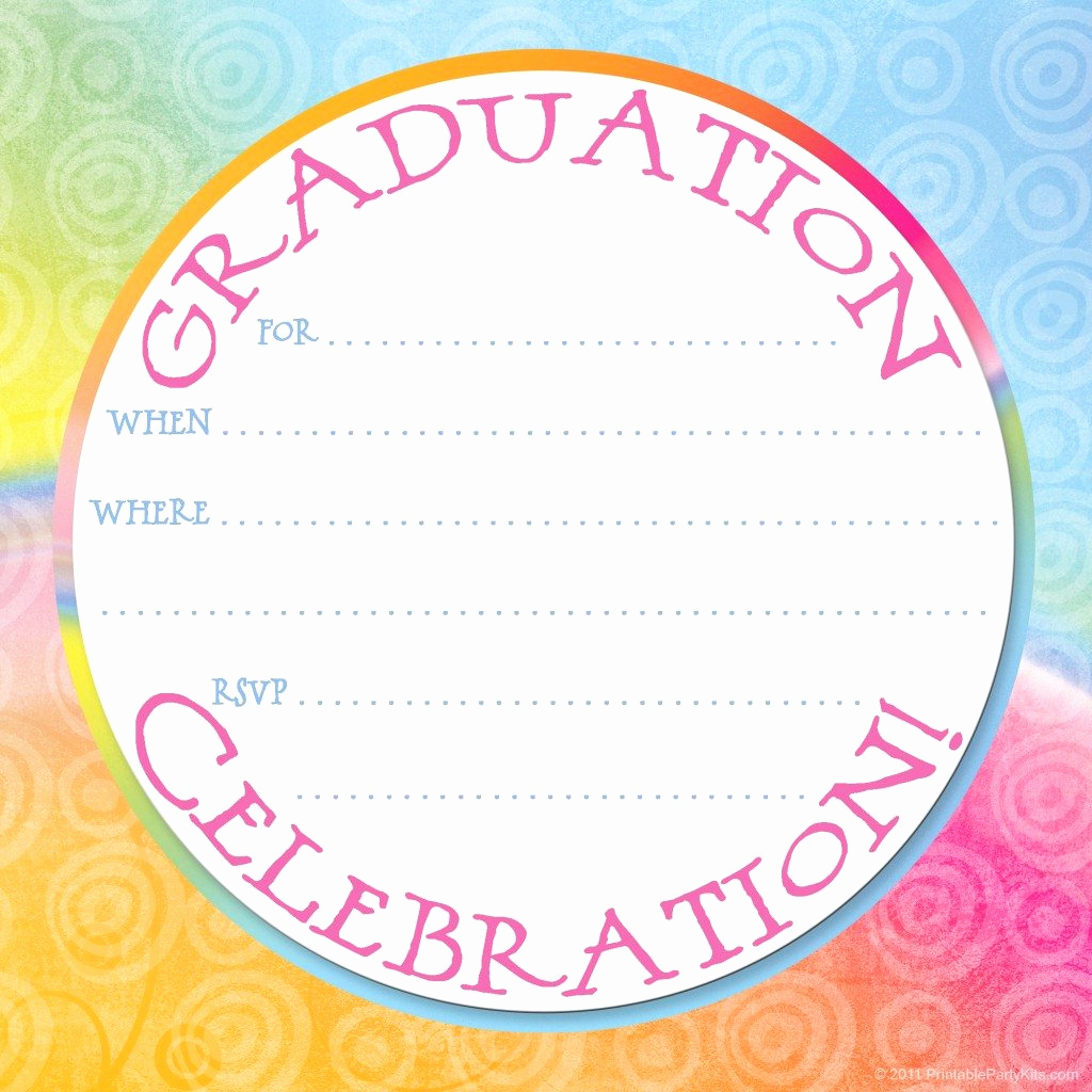Free Graduation Invitation Templates Printable Luxury Free Printable Graduation Party Invitation Template