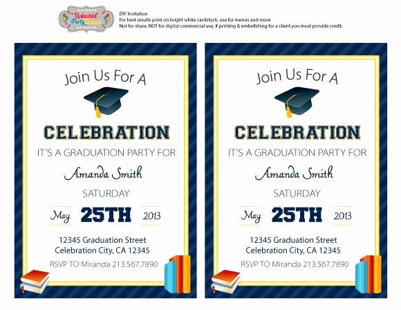 Free Graduation Party Invitation Beautiful Free Graduation Party Printables From Unlimited Party