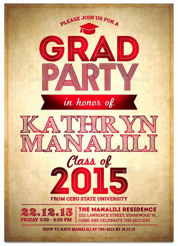 Free Graduation Party Invitation Inspirational 40 Free Graduation Invitation Templates Template Lab