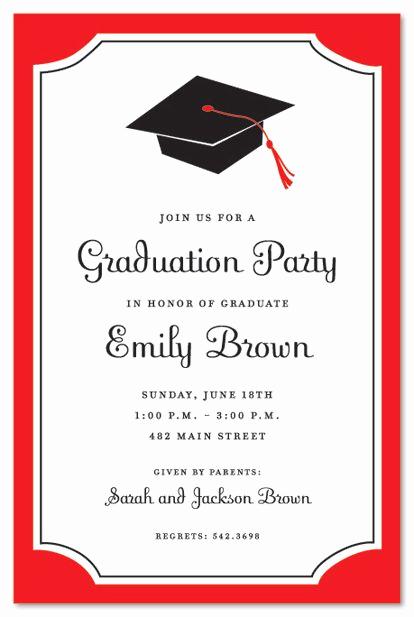 Free Graduation Party Invitation Inspirational Graduation Invitations