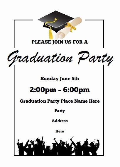 Free Graduation Party Invitation Inspirational Graduation Party Invitations Free Printable