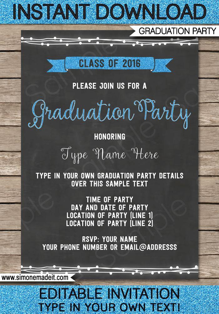 Free Graduation Party Invitation Lovely Best 25 Graduation Invitation Templates Ideas On