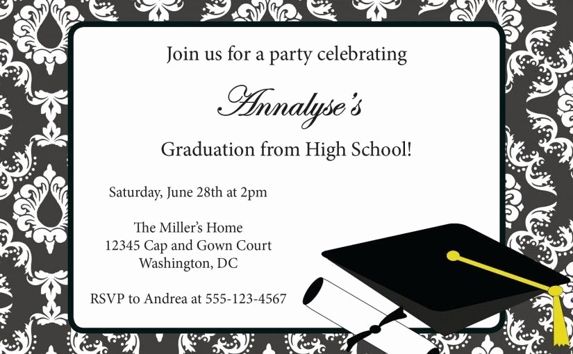 Free Graduation Party Invitation Template Unique Free Graduation Announcement Templates