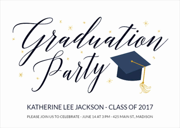Free Graduation Party Invitation Templates Awesome 9 Graduation Menu Templates Psd Vector Eps Ai
