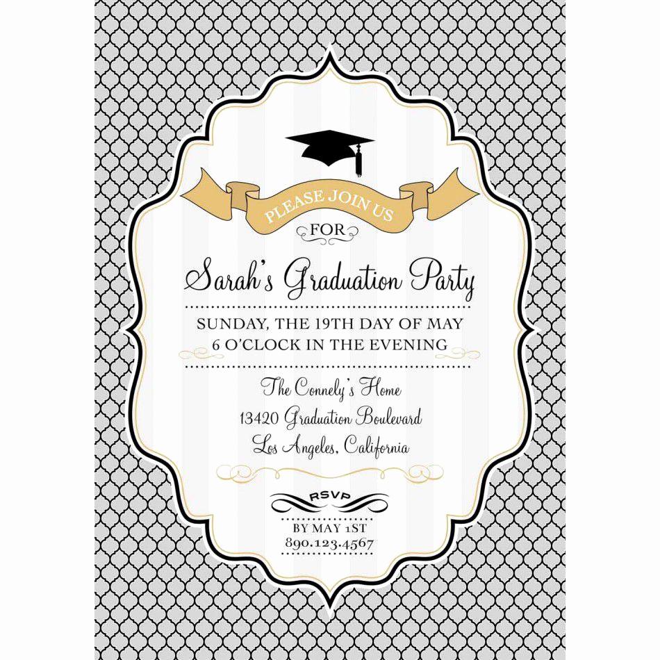 Free Graduation Party Invitation Templates Best Of Card Template Graduation Invitation Template Card