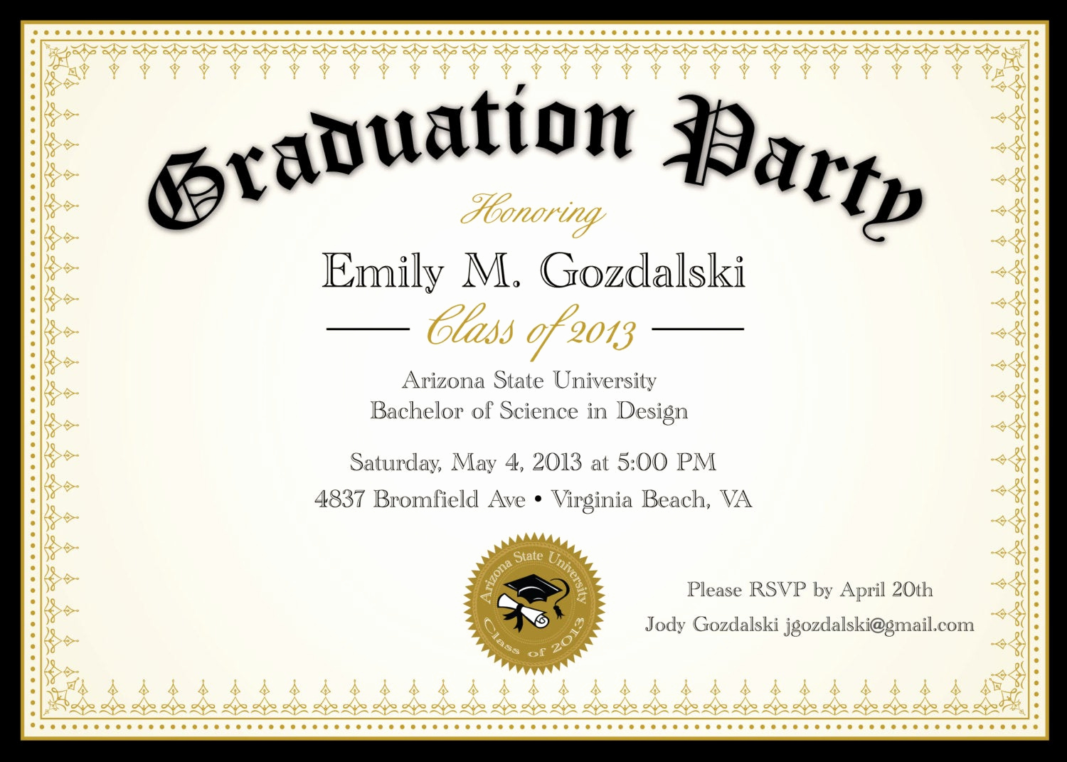 Free Graduation Party Invitation Templates Luxury Diploma Graduation Party Invitations Grad by Announceitfavors