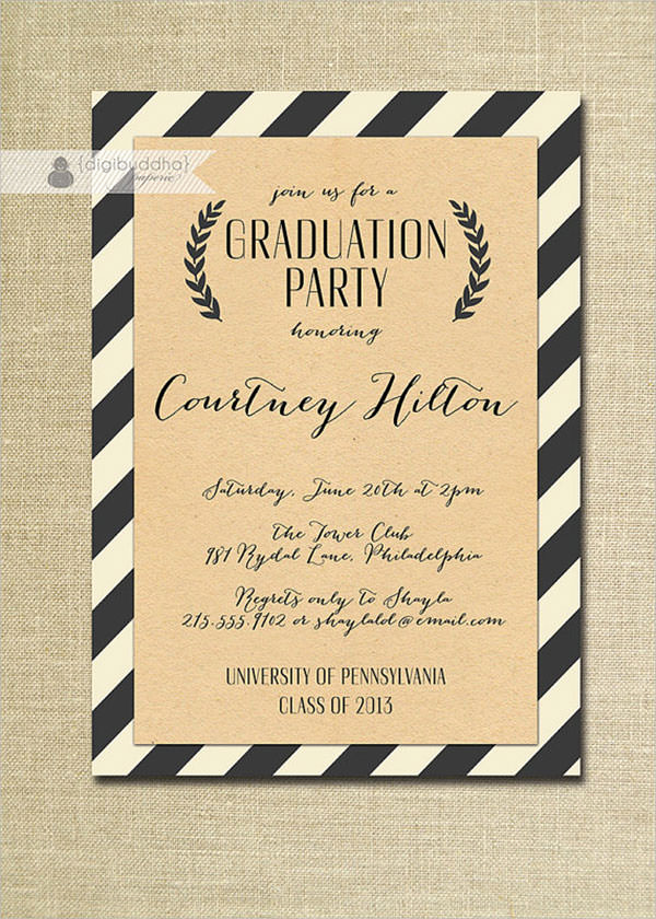 Free Graduation Party Invitation Templates Unique 11 Beautiful Graduation Invitation Templates Psd Word Ai