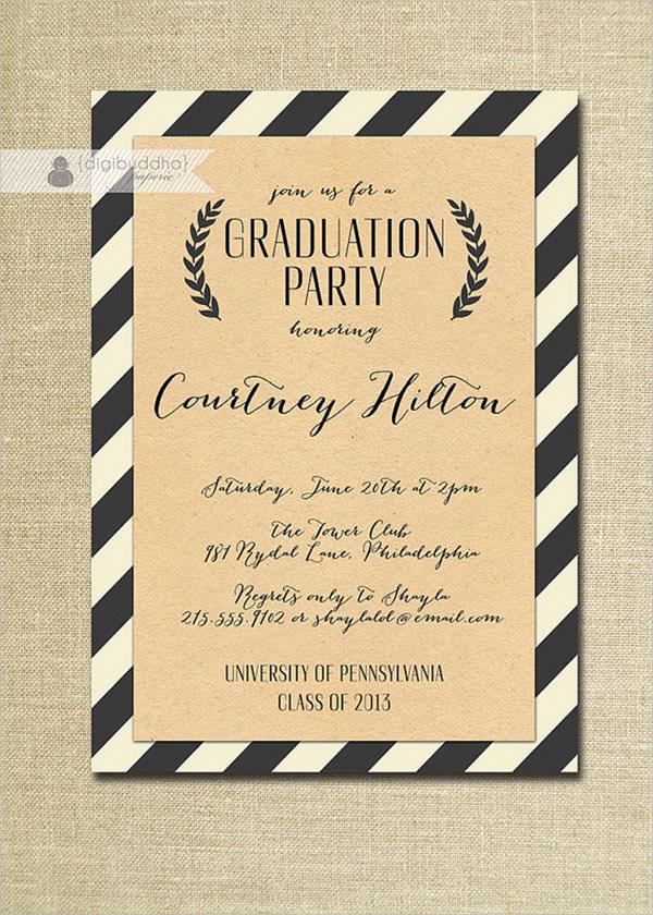 Free Graduation Party Invitation Templates Unique 11 Beautiful Graduation Invitation Templates Psd Word Ai