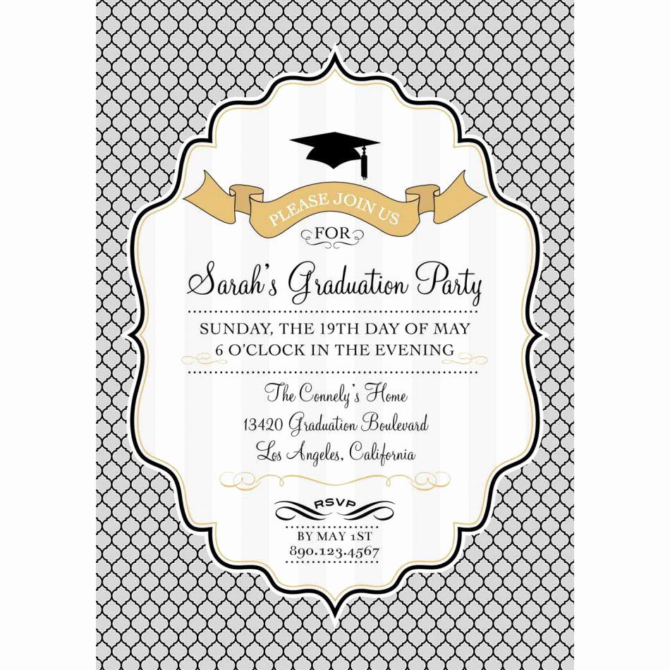 Free Graduation Party Invitation Templates Unique Graduation Invitation Backgrounds