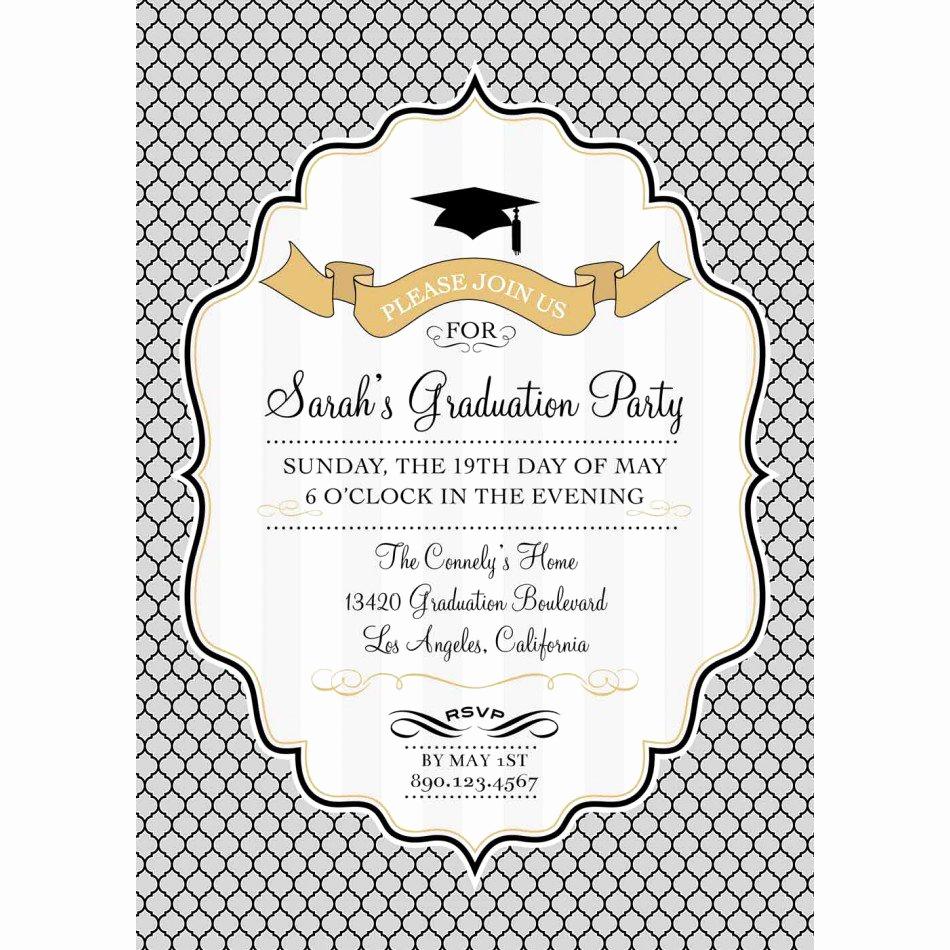 Free Graduation Party Invitation Templates Unique Graduation Invitation Backgrounds