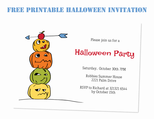 Free Halloween Invitation Printable Beautiful Coprinted