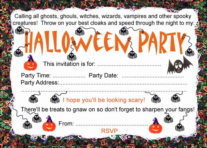 Free Halloween Invitation Printable Beautiful Halloween Party Invitation