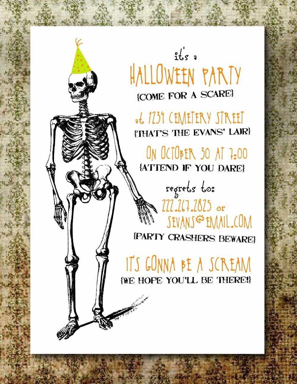 Free Halloween Invitation Printable Inspirational Free Printable Halloween Invitation Templates