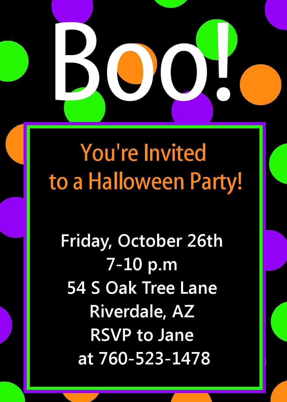Free Halloween Invitation Printable Lovely Halloween Party Invitation Printable