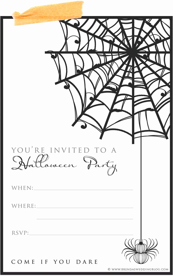 Free Halloween Invitation Printable New 9 Fun & Stylish Ideas for Halloween Weddings A Printable