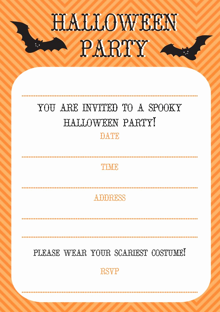 Free Halloween Invitation Printables Awesome Free Printable Halloween Invitations