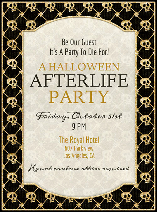 Free Halloween Invitation Printables Beautiful Free Printable Halloween Party Invitations Templates