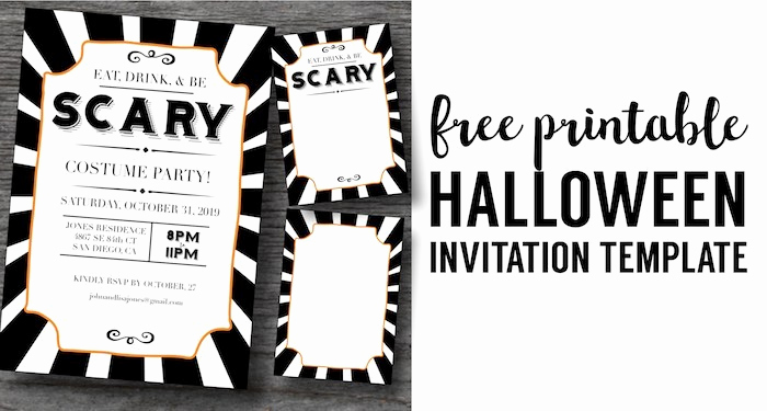 Free Halloween Invitation Printables Elegant Halloween Invitations Free Printable Template Paper