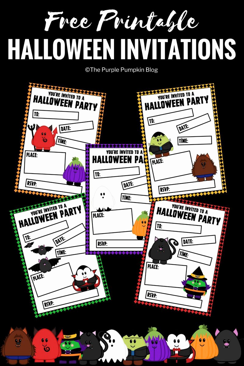 Free Halloween Invitation Printables Fresh Free Printable Cute Halloween Party Invitations
