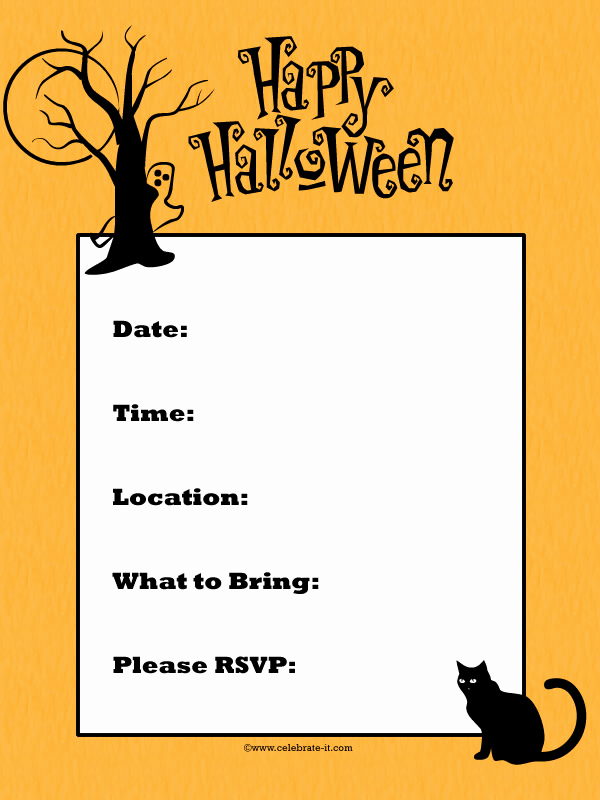 Free Halloween Invitation Printables Luxury Free Halloween Party Invitation Printables for Kids