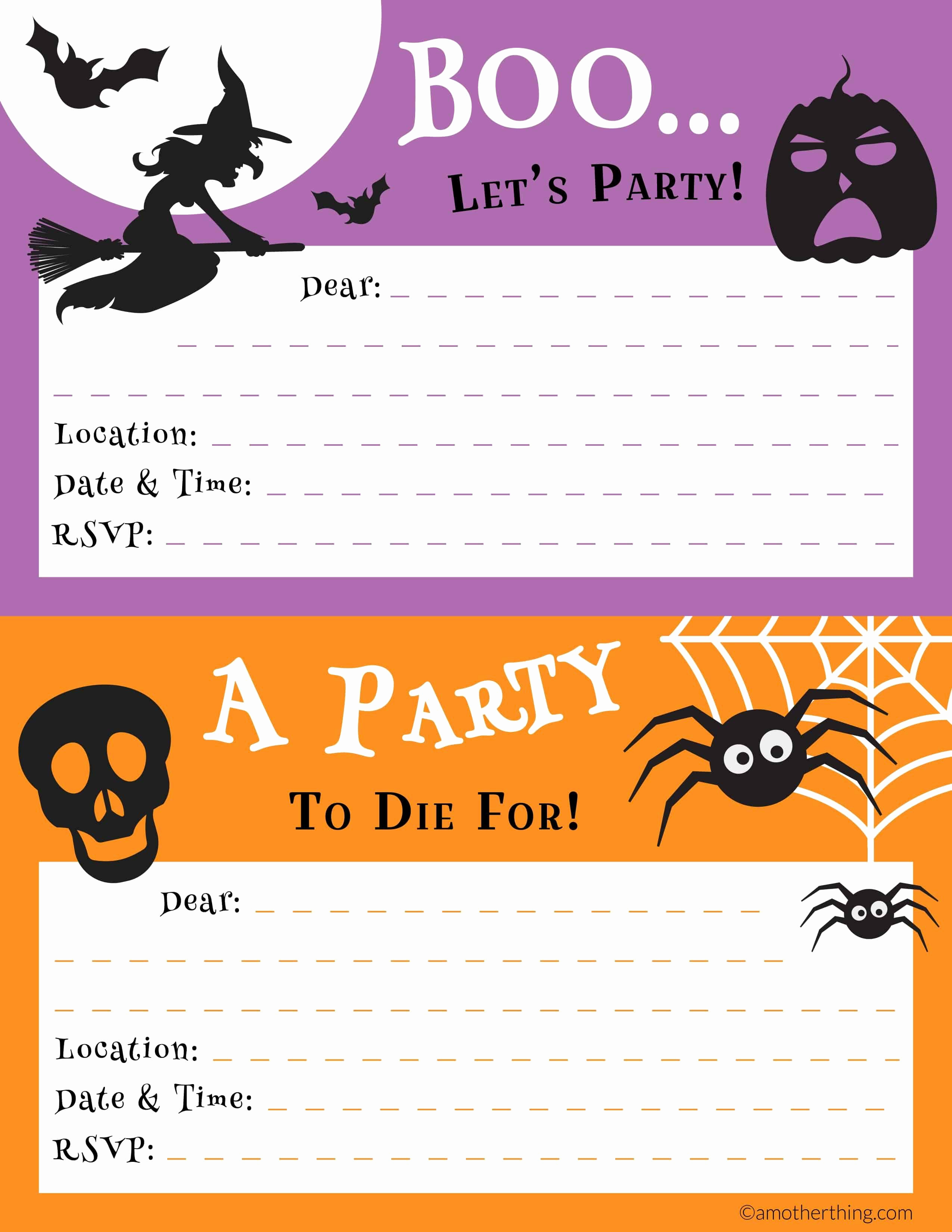 Free Halloween Invitation Printables Unique Free Printable Halloween Party Pack