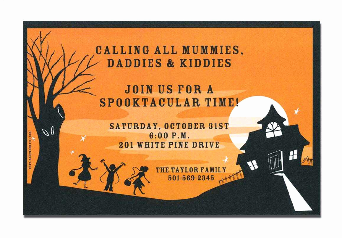 Free Halloween Invitation Printables Unique Halloween Invitation Cards Free Printable – Festival