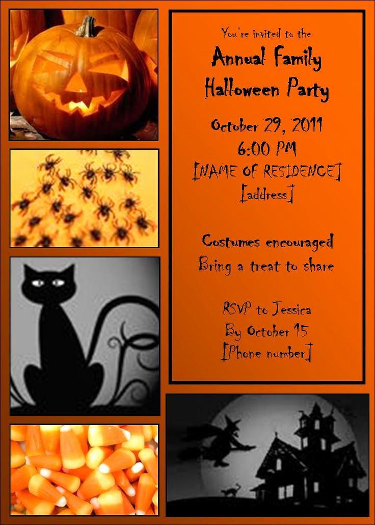Free Halloween Invitation Template Awesome 48 Best Invitations Images On Pinterest