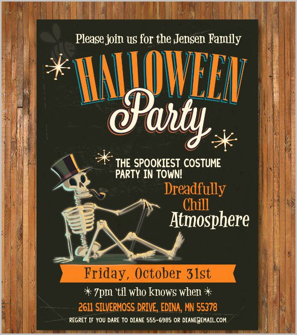Free Halloween Invitation Template Awesome Halloween Invitation 35 Free Psd Vector Eps Ai
