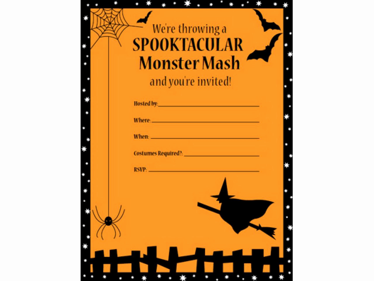 Free Halloween Invitation Template Elegant 41 Printable and Free Halloween Templates