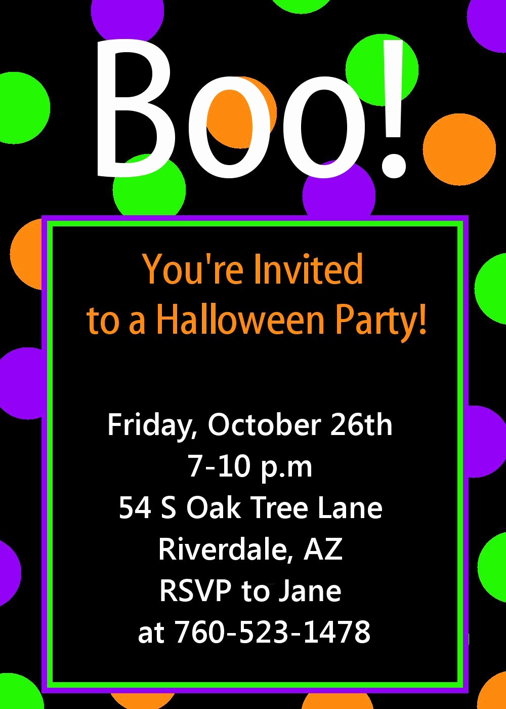 Free Halloween Invitation Template Elegant Halloween Party Invitation Printable