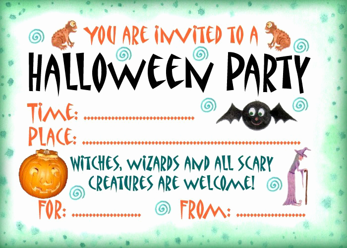 Free Halloween Invitation Template Lovely 16 Awesome Printable Halloween Party Invitations
