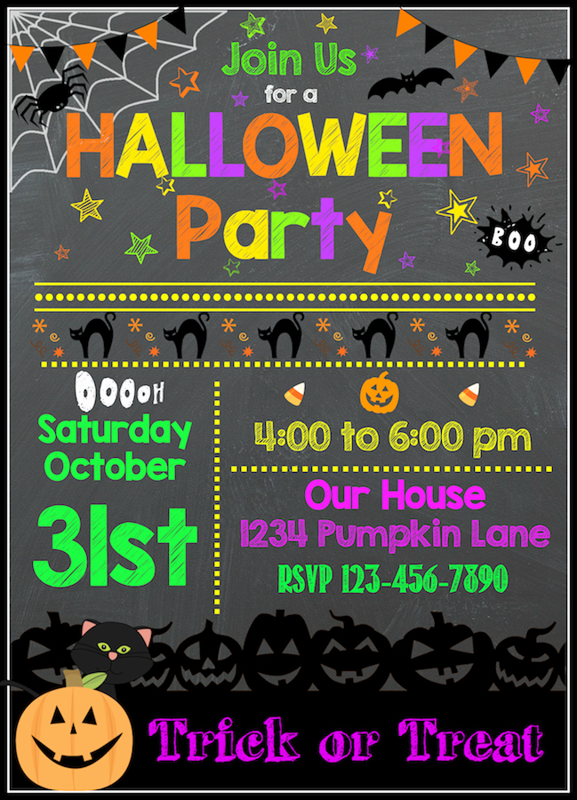 Free Halloween Invitation Template Lovely Free Halloween Printables