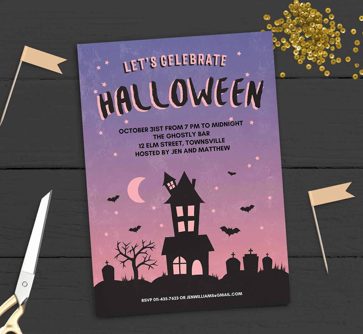 Free Halloween Invitation Template Lovely Free Printable Halloween Party Invitation Haunted House