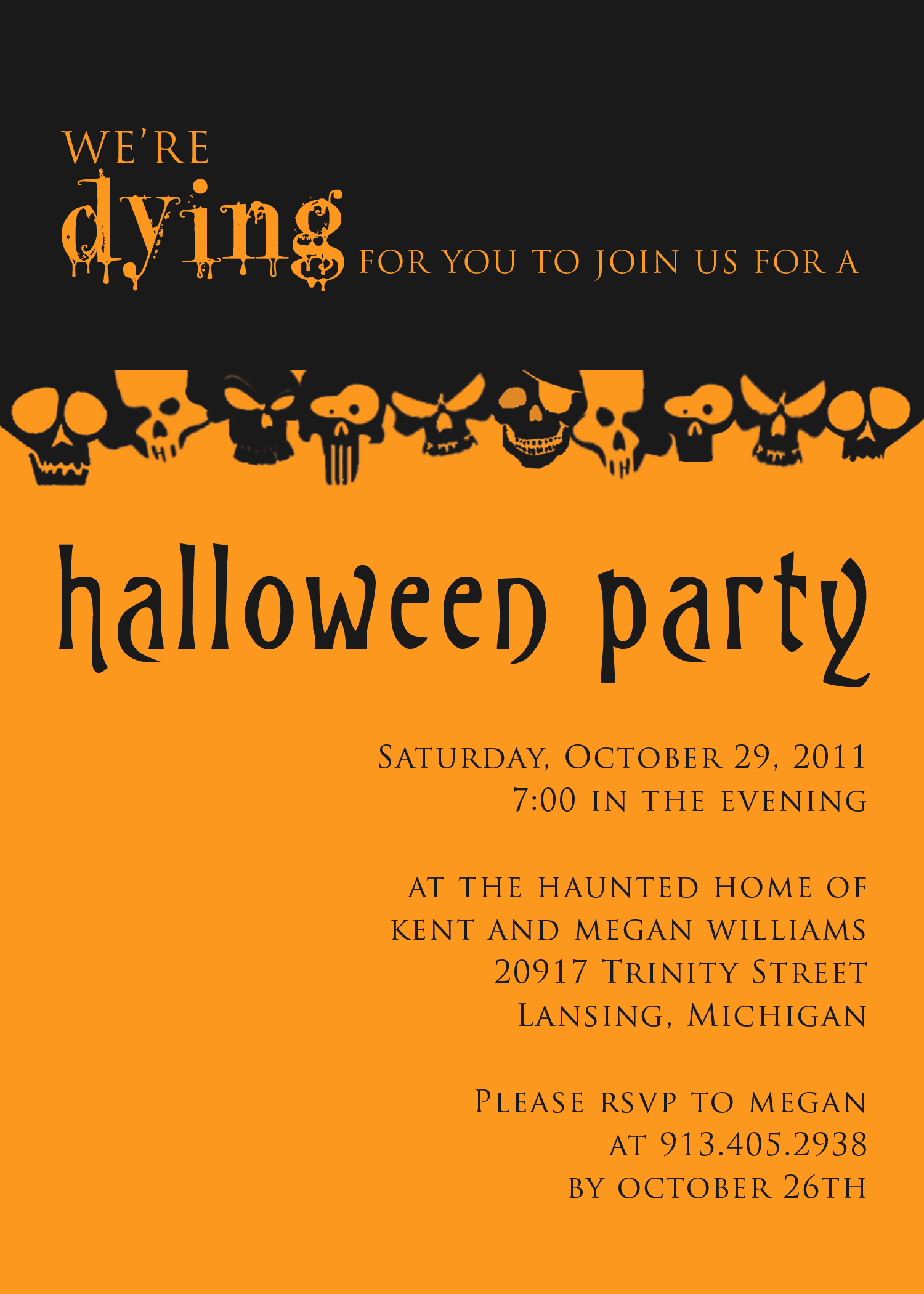 Free Halloween Invitation Template New Halloween Party Invitation Templates Free – Festival