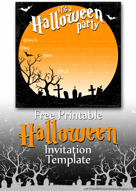 Free Halloween Invitation Templates Beautiful Free Printable Party Invitations Spooky Graveyard